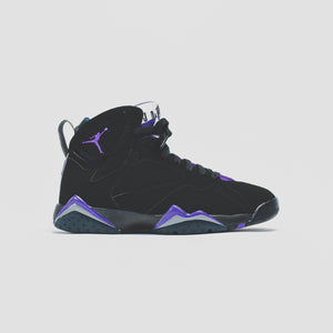 Nike GS Air Jordan 7 Retro - Black / Field Purple Image 1