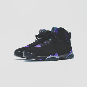 Nike GS Air Jordan 7 Retro - Black / Field Purple Image 5