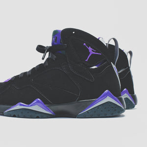 Nike GS Air Jordan 7 Retro - Black / Field Purple Image 7