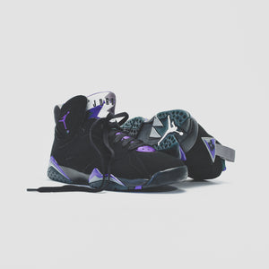 Nike GS Air Jordan 7 Retro - Black / Field Purple Image 4