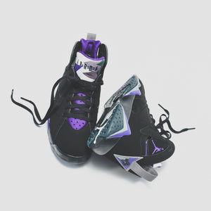 Nike GS Air Jordan 7 Retro - Black / Field Purple Image 2