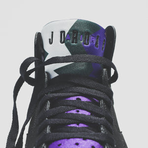 Nike GS Air Jordan 7 Retro - Black / Field Purple Image 8