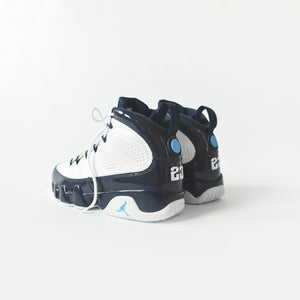 Nike Air Jordan 9 Retro - White / University Blue / Midnight Navy