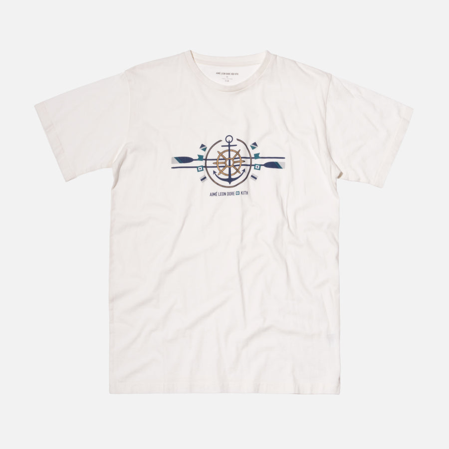 Kith x Aimé Leon Dore Anchor Tee - Off White