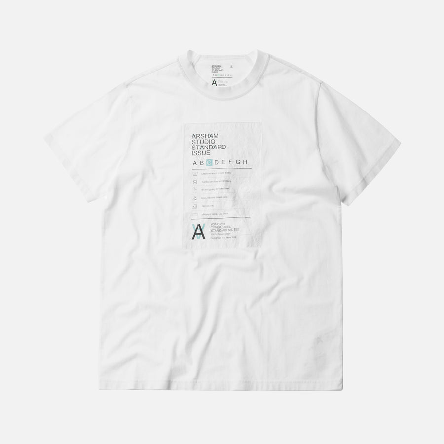 Kith x Arsham Studio Standard Issue Label Tee - White