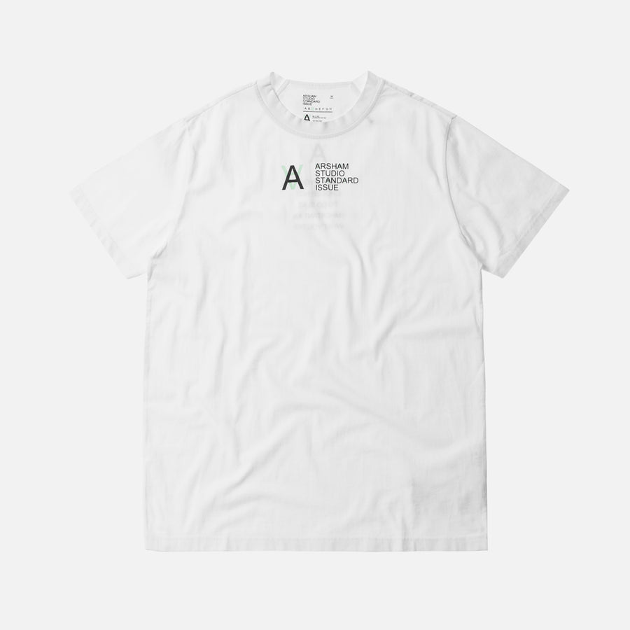 Kith x Arsham Studio Standard Issue Basic Tee - White