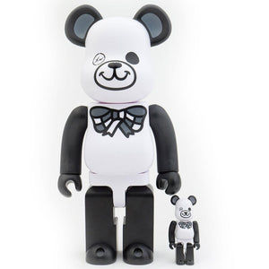 BearBrick Freemasonry x Fragment Design 100% + 400% - White