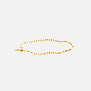 Bernard James Anthony Faceted Bead 7in Bracelet - Gold