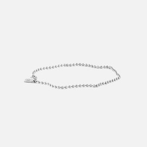 Bernard James Anthony Faceted Bead 7in Bracelet - Silver