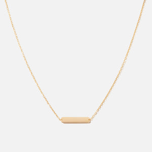Bernard James 18in Chain w/ ID Plaque - Gold