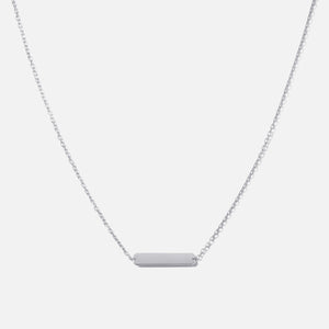 Bernard James 18in Chain w/ ID Plaque - Silver