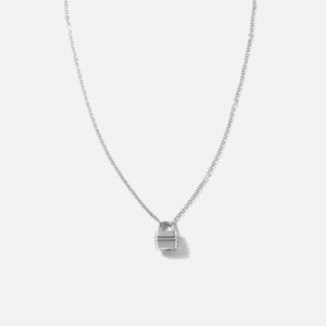 Bernard James 18in Chain w/ Lock Clasp - Silver