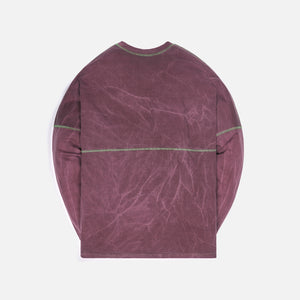Ambush Pigment Dye Football L/S - Wine