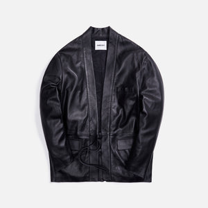 Ambush Kimono Leather Jacket - Black