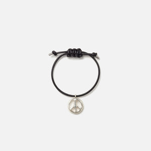 Ambush Peace Leather Bracelet - Silver