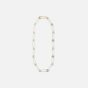 Ambush Safety Pin Link Necklace - Silver