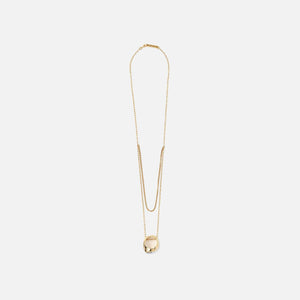 Ambush Misfit Stone Ring Necklace - Gold