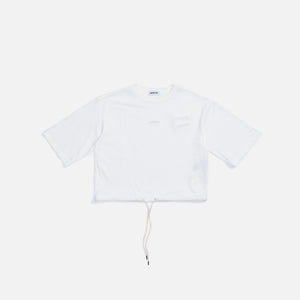 Ambush Drawstring Cropped Tee - Tofu