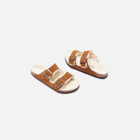 Birkenstock Arizona Shearling - Mink / Natural Thumbnail 2
