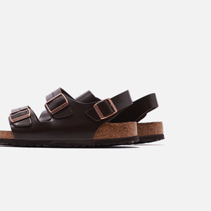 Birkenstock Milano Soft Footbed Amalfi Leather - Brown Image 3