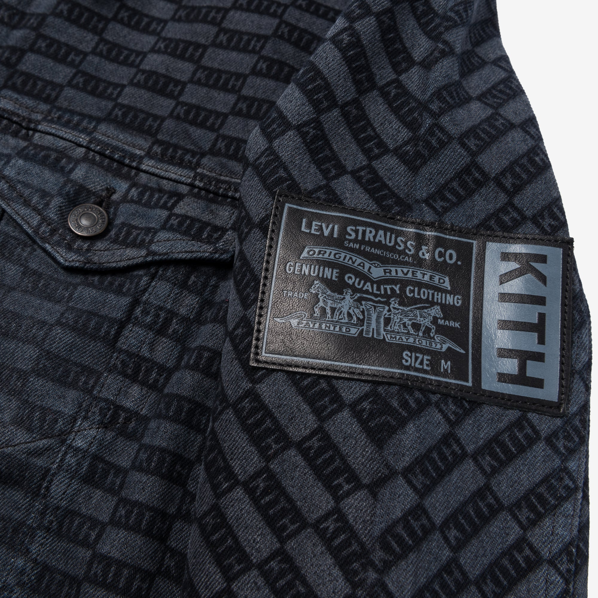 Kith Kids x Levi's Damn Straight AOP Trucker - Black