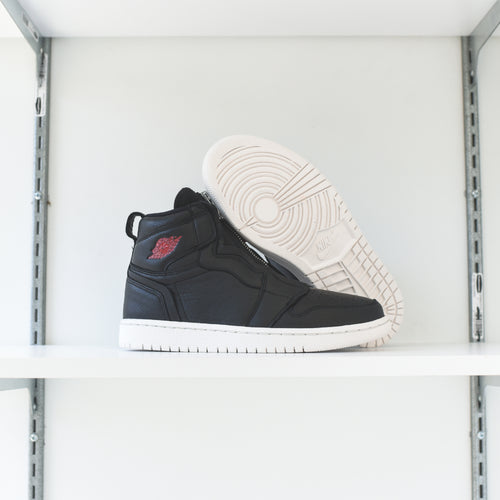 Nike WMNS Air Jordan 1 High Zip - Black / Gym Red / Phantom
