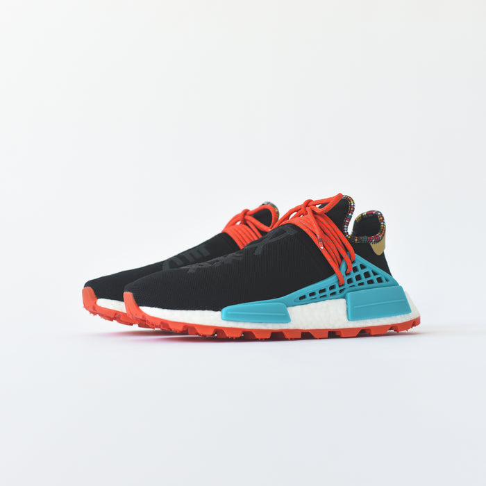 adidas Originals x Pharrell Williams Solar HU NMD - Core Black / Clear Blue