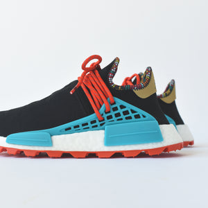 8aab0cd93 adidas Originals x Pharrell Williams Solar HU NMD - Core Black   Clear Blue