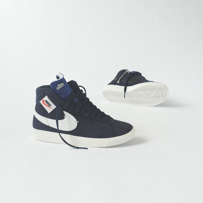 ... new style nike wmns blazer mid rebel blackened blue summit white black  af542 6dd10 26544619c