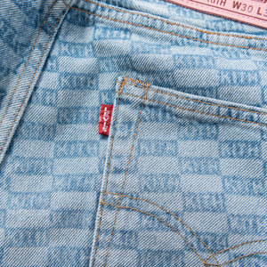 Kith Kids x Levis Salt Bleached AOP 501 - Light Blue
