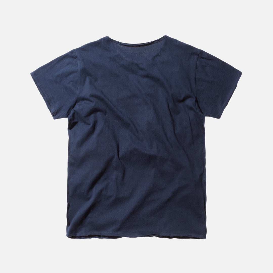 Kith Classics Frayed Bank Tee - Navy