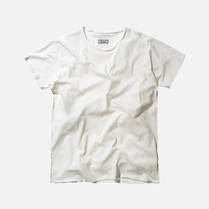 KITH Classics Frayed Bank Tee - Off-White