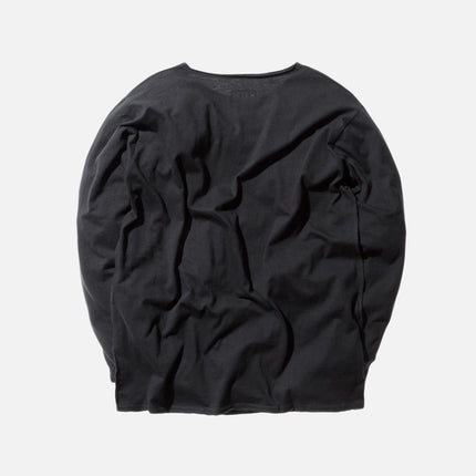 KITH Classics L/S Frayed Bank Tee - Black