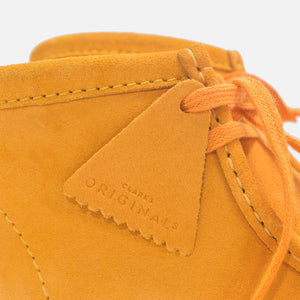 Clarks Wallabee Boot - Burnt Yellow Suede Image 4