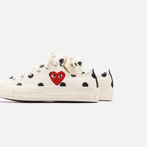 Converse x Comme des Garçons CDG Play Chuck Taylor Low - Polka Dot / White Image 5