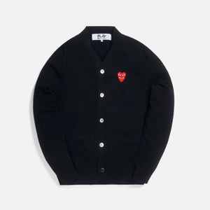 CDG Play Mens Cardigan - Black