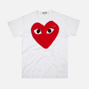 Comme des Garçons Play Big Red Heart Tee - White