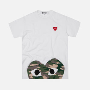 Comme des Garçons Play Bottom Camouflage Heart Tee - White