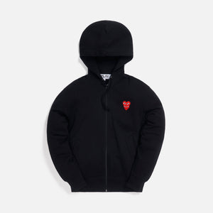 Comme des Garçons Play Mens Sweatshirt Zip Up Hoodie - Black