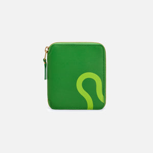 CDG Pocket Ruby Eyes Full Zip Wallet - Green