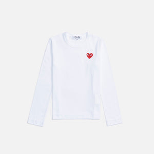 CDG Pocket WMNS L/S Tee - White
