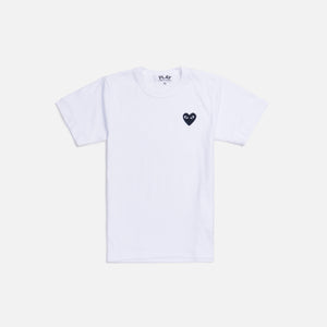 CDG Pocket Play w/ Heart Tee - White / Black Image 1