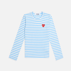 CDG Pocket Play Ladies Striped Tee - Blue