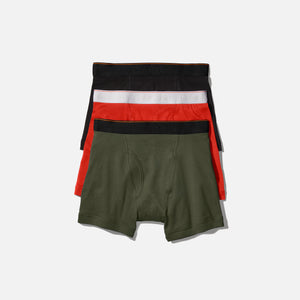 Calvin Klein x Heron Preston Boxer Brief (3 Pack) - Red / Olive / Black