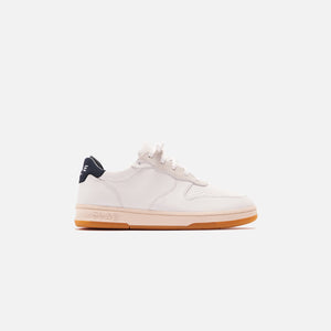 Clae Malone Milled Leather Sneaker - White / Navy