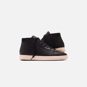 Clae Bradley Pebbled Leather Mid Sneaker - Black