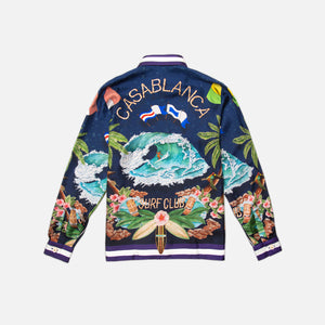 Casablanca Surf Club Midnight Printed L/S Shirt - Navy