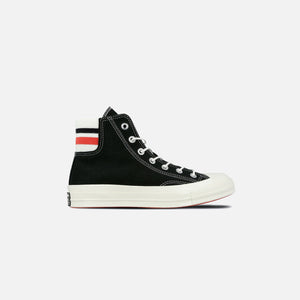 Converse Chuck 70 Retro Stripe - Hi Black / Sedona Red / Egret