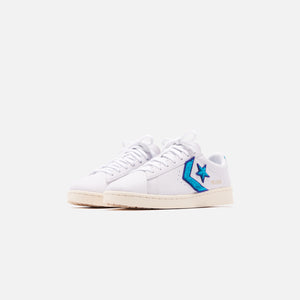 Converse Pro Leather Ox - White / Deep Wisteria / Egret