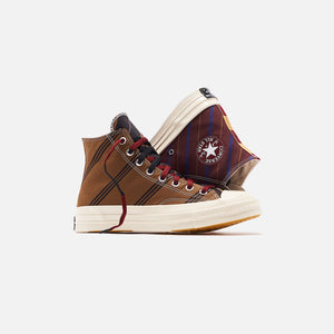 Converse Chuck 70 High - Tan / Burgundy / Black Image 2